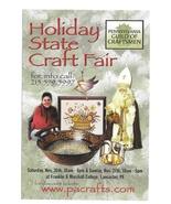 Modern Advertising Postcard Holiday State Craft Fair Lancaster PA Craftsmen - $4.99