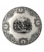 Boch Freres La Louviere Napoleonic Wars Plate, Napoleon Haranguant Les T... - $48.00
