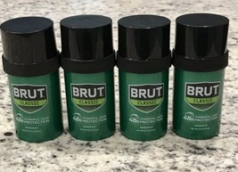 4x BRUT CLASSIC Deodorant Stick Original Fragrance 2.5 oz ea 48hr Protec... - $18.80
