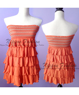 Forever21 Tube Boho Ruffle Embroidery Tiered Beach Tribal Bandeau Sun Mi... - $69.99