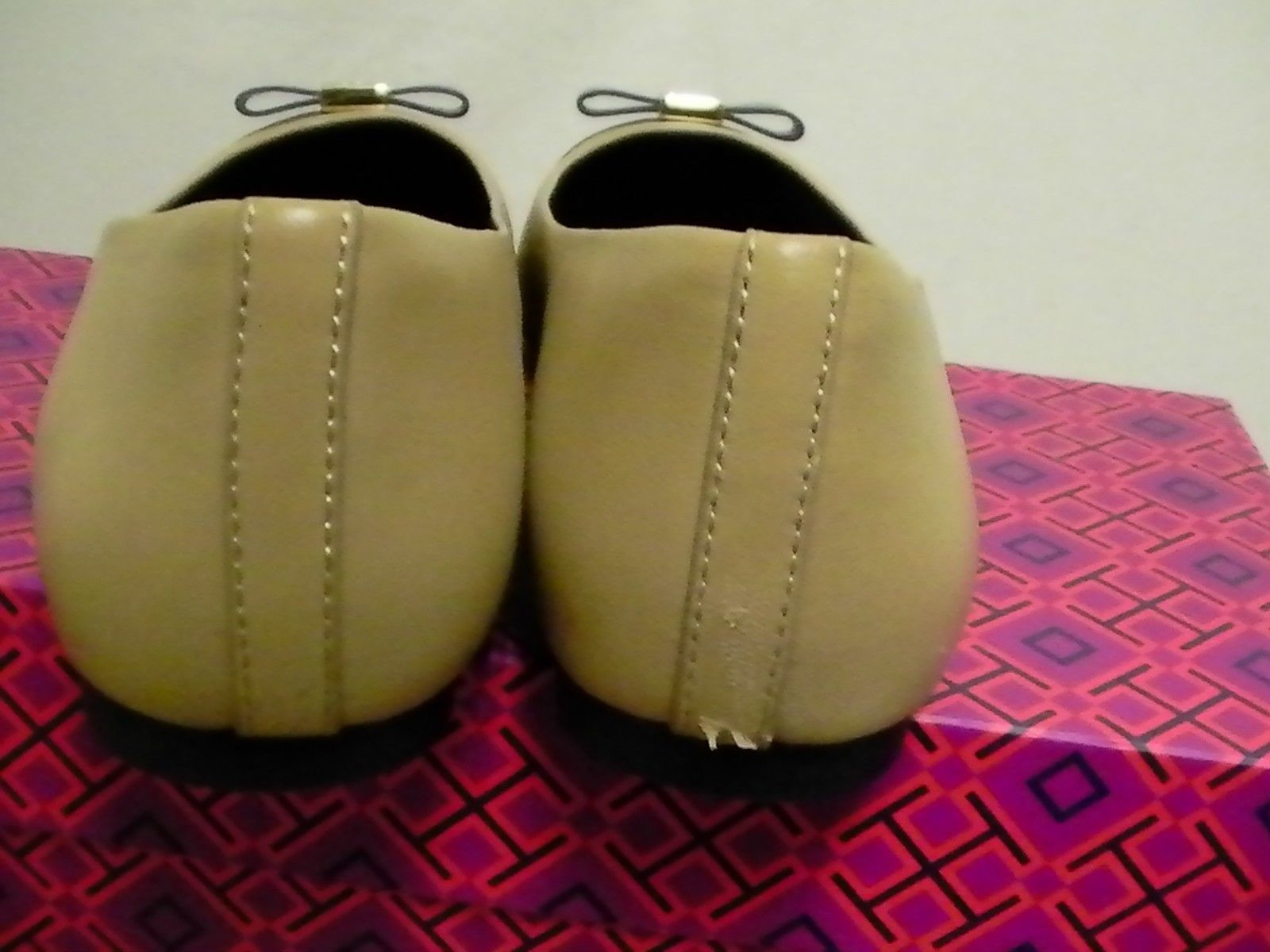 Tory burch slippers Hugo flat-mestico/boxcalf size 6.5
