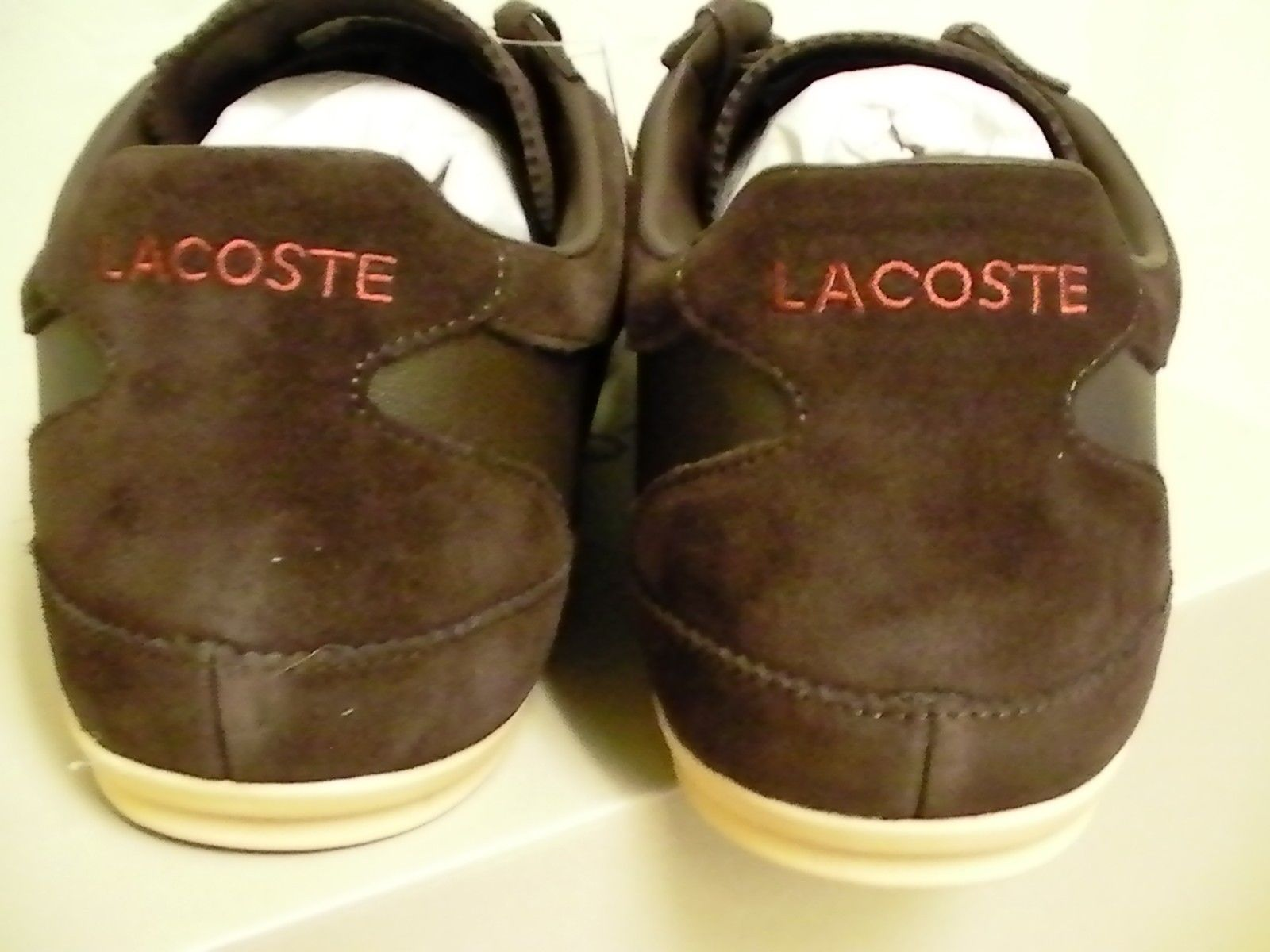24314c960d Lacoste shoes misano 22 spm leather/suede dark brown size 8.5 us
