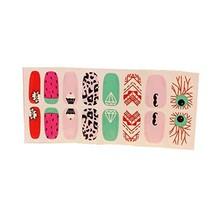 [Set of 2]Easily Apply 12 PCS Artificial Salon Nail Polish Sticker, Harajuku