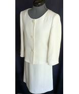 DANA BUCHMAN 2 Piece outfit Top Ivory 4 Skirt 2 Linen and Waist Size 29 - $103.79