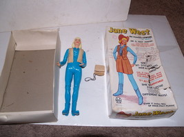 "Vintage 1960s Marx Action Figure Doll - Jane West - 11"" tall with Box - $39.19"