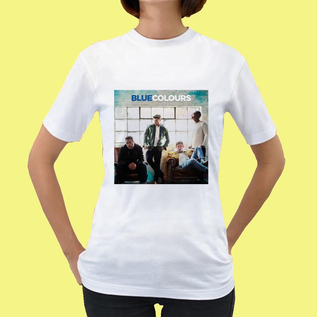 Blue boy band colour tour 2015 womens tee t shirt s m l for Xxl band t shirts