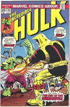 The Incredible Hulk Comic Book #186 Marvel Comics 1975 FINE+ - $7.84