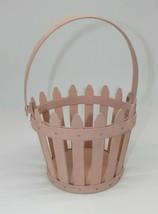 Longaberger Soft Pink Picket Pail Easter Basket 2006 - $39.99