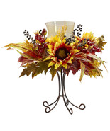 Sunflower Candelabrum Nearly Natural Free shipping - $62.99