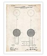 TESLA COIL POSTER 1900 PATENT PRINT 18X24 INVENTOR GENIUS NICOLA ELECTRI... - $24.97