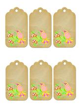 6 Flower Tags37-Download-ClipArt-ArtClip-Digital Tags-Digital - $4.00