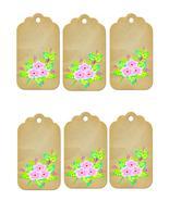 6 Flower Tags38-Download-ClipArt-ArtClip-Digital Tags-Digital - $4.00