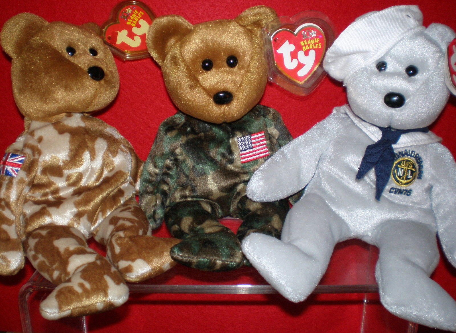 ee818856230 Ty Beanie Baby 3 Patrioric Bears 2 Flag and 50 similar items