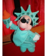 NEW DISNEY STORE STATUE OF LIBERTY MINNIE MOUSE MINI BEAN BAG BEANIE BABY - $12.99