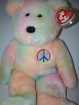 """MWMT TY Peace Beanie Buddy Tye Dyed Pastels Collectors Quality 14"""" - $11.99"""