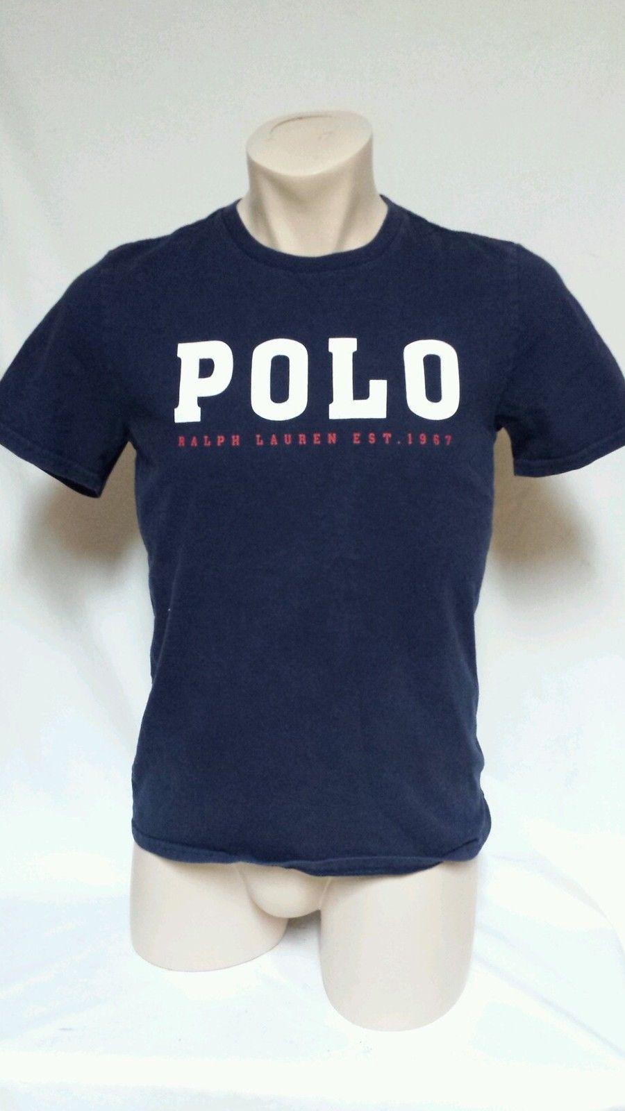 Vintage RALPH LAUREN Polo 67 Spell Out T Shirt Men's Small Stadium 92 - $19.78