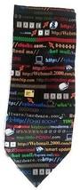 Retro Internet Computer Tie Email Web Design Necktie Funny IT Tech PC Ge... - $14.99