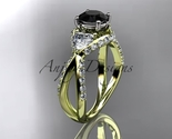 Leafring318 yellow gold  diamond wedding ring  diamond engagement ring  black diamond  1 thumb155 crop