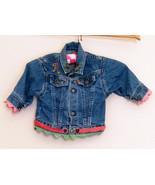 Girls LEVI STRAUSS Denim Jacket Monogrammed R Size 12 Months - $5.00