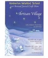 Modern Advertising Postcard Kimberton Waldorf School 31st Juried Craft Show - $4.99