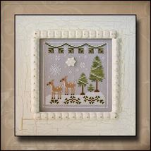 Snowy Deer Frosty Forest #2 cross stitch chart Country Cottage Needleworks - $5.40