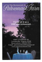 Lovettsville VA Patowmack Farm Restaurant Modern Advertising Postcard Po... - $6.69