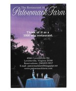 Lovettsville VA Patowmack Farm Restaurant Modern Advertising Postcard Po... - $6.69