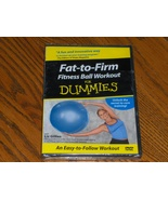 Fat To Firm Fitness Ball Workout For Dummies DVD 2004 New Sealed - $10.00