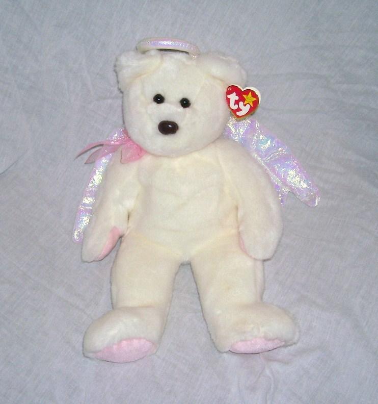 Ty halo angel bear beanie buddy nwt