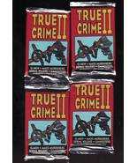 1992 ECLIPSE True Crime 2 Trading Cards Series Foil Packs 4 New Unopened... - $6.55