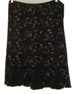 NOTATIONS MACY'S 2 PIECE BLACK SKIRT & TOP MULTI COLOR  EMBROIDERED SIZE 2X - $39.99