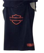 HARLEY DAVIDSON BLACK SLEEVELESS TOP w/MESH OVERLAY HOUSE OF HARLEY DAVI... - $21.99