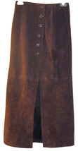 Global Identity Leather Giii Sexy Cognac Color Vintage Suede Skirt Juniors 3/4 - $69.99