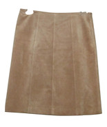 ANN TAYLOR BEAUTIFUL TAN LEATHER SUEDE SKIRT SIZE 2P - $59.00