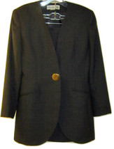 CHRISTIAN DIOR VINTAGE GRAY WOOL BEAUTIFUL BUSINESS JACKET & SKIRT SUIT ... - $199.99