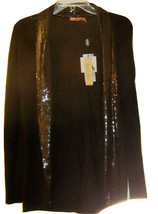 BELLDINI DILLARDS NWT BLACK OPEN FRONT CARDIGAN SWEATER SEQUIN SZ S - $39.99