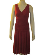 BCBG MAXAZRIA MACY'S RED FORMAL SPECIAL OCCASION COCKTAIL RUCHED DRESS S... - $49.99