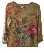 COLDWATER CREEK FLORAL PRINT TOP SIZE S - $24.99
