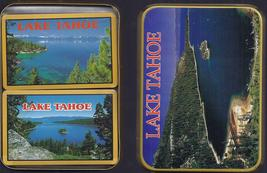 Double Deck of Cards LAKE TAHOE Playing Cards in metal tin, New - $7.95