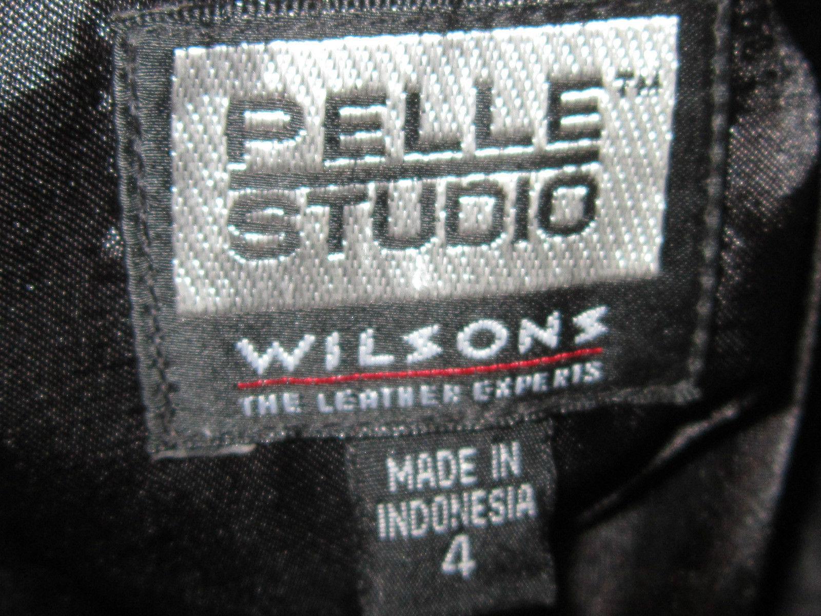 WILSON'S PELLE STUDIO BLACK LEATHER LUXURIOUS BUTTERY SOFT SKIRT SIZE 4