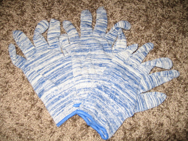Blue streak roping gloves 12 pack size medium rodeo team roping New! SSG