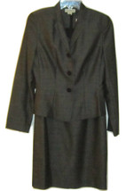 ANN TAYLOR PROFESSIONAL BUSINESS EVENT CAREER GRAY DRESS & JACKET SUIT S... - $89.99