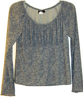 NEW YORK CITY DESIGN CO. PAISLEY PRINT TOP LONG SLEEVES SIZE M - $24.99