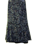 JM COLLECTION MACY'S ABSTRACT PRINT TEAL BURGUNDY BLACK SKIRT SIZE 16 - $34.99