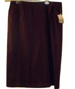 ELISABETH SPORT PETITE BY LIZ CLAIBORNE BURGUNDY WRAP SKIRT NWT SIZE 20P - $39.99