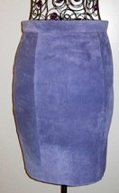Global Identity G Lll Vintage Leather Suede Lavender Skirt Junior 9/10 Free Ship - $56.09