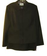 KASPER DILLARD'S BEAUTIFUL BLACK 2 PIECE JACKET & SKIRT SUIT SIZE 14P - $89.99