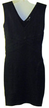 FOREVER 21 SEXY BLACK SLEEVELESS METALLIC FITTED DRESS BODYCON JUNIORS L... - $41.75