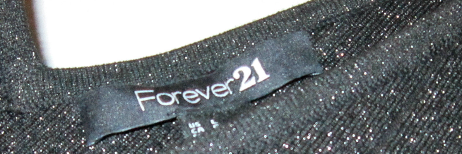 FOREVER 21 SEXY BLACK SLEEVELESS METALLIC FITTED DRESS BODYCON JUNIORS LARGE
