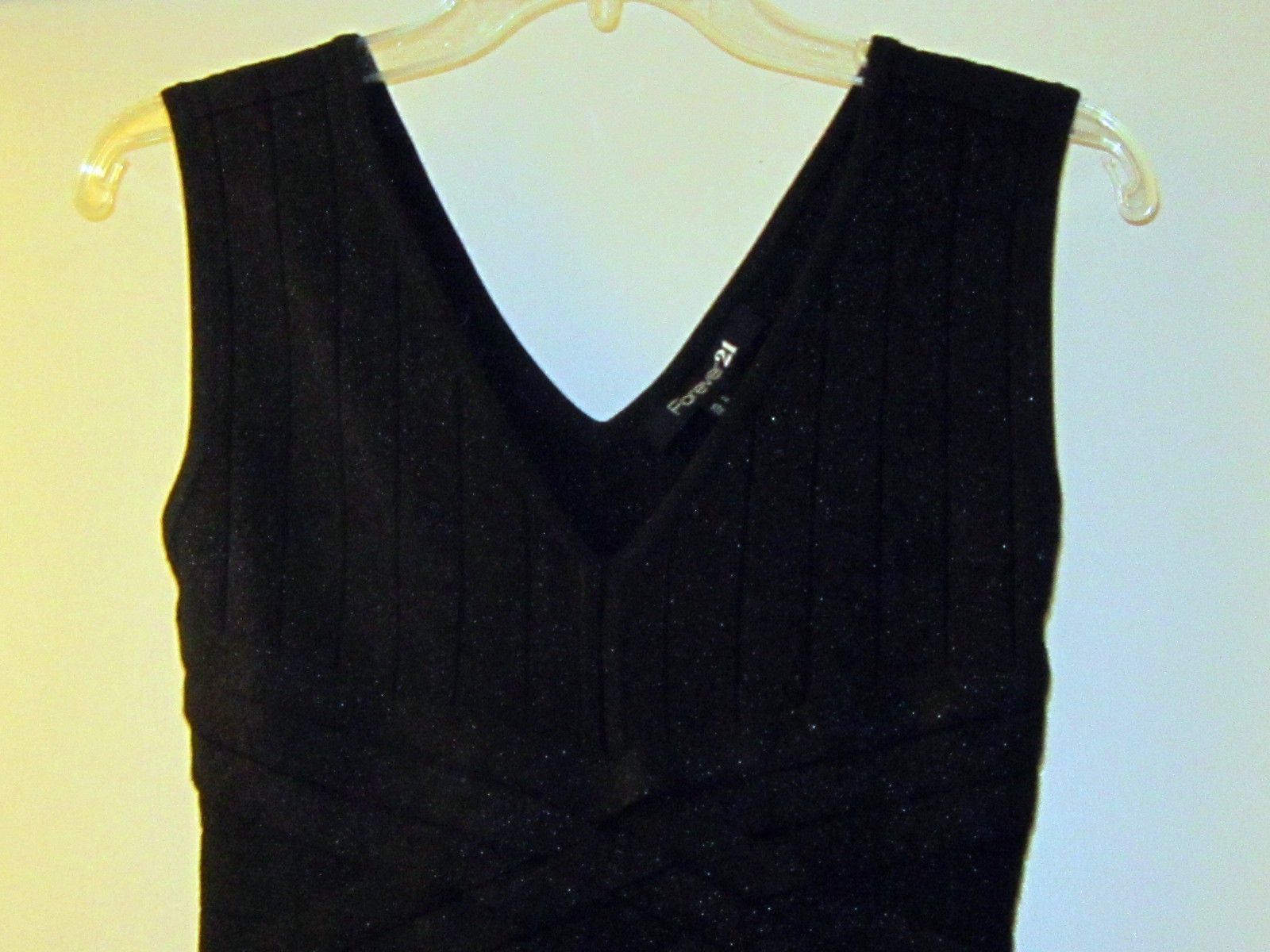 671c660fc44 Forever 21 Sexy Black Sleeveless Metallic and 50 similar items